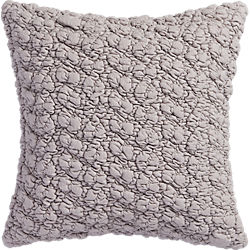 "gravel light grey 18"" pillow"