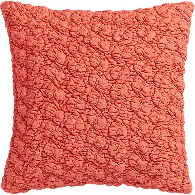 """gravel red-orange 18"""" pillow"""