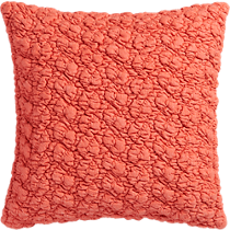"gravel red-orange 18"" pillow"