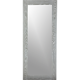 "hanging-leaning grey 32""x76"" floor mirror"