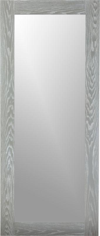 hanging-leaning grey 32u0026quot;x76u0026quot; floor mirror : CB2