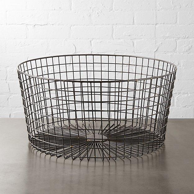 gridlock large raw industrial basket