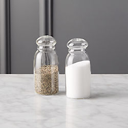 2-piece grill glass salt and pepper set