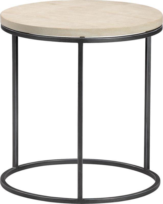 grind sandstone side table