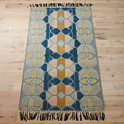 hand-knotted stained glass rug