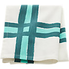 overlap aqua/blue-green dishtowel.