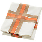 overlap peach/tan dishtowel.