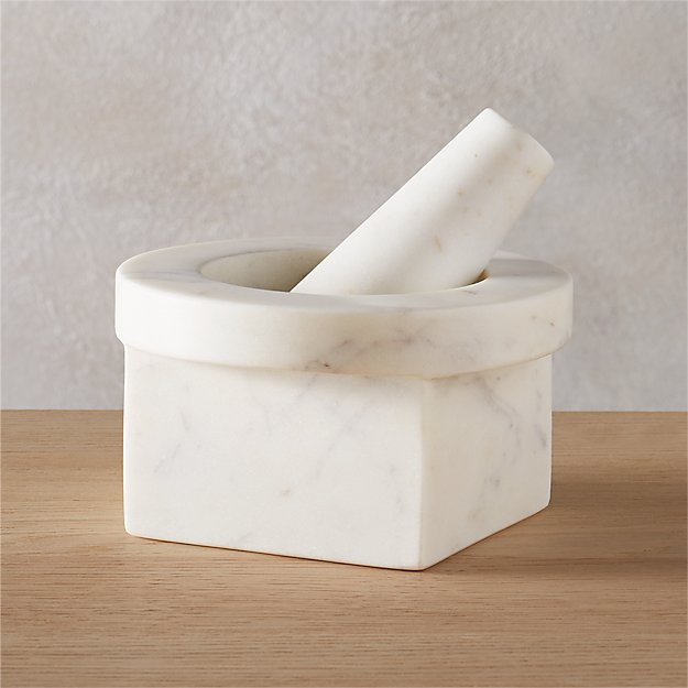 harlow marble mortar and pestle
