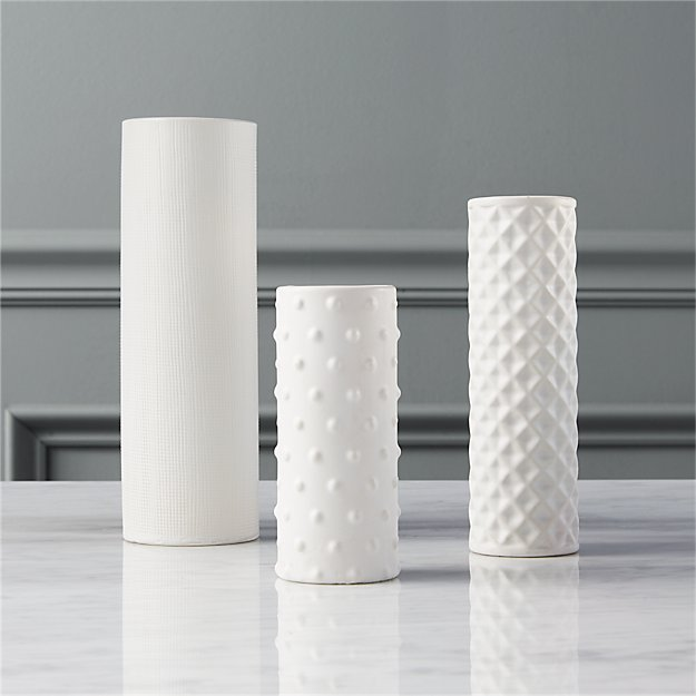 3-piece hat trick vase set