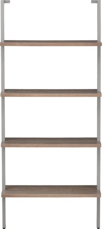 helix taupe bookcase