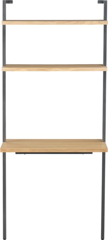 "helix white oak 70"" wall mounted desk"