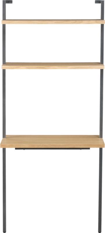 "helix white oak 70"" wall mounted desk"