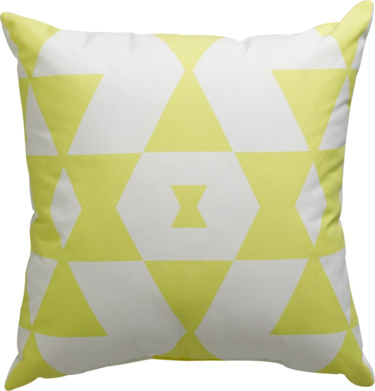 "hello yellow 18"" outdoor pillow"