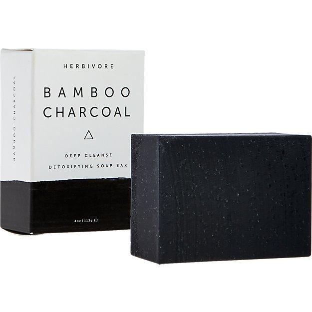 herbivore bamboo charcoal bar soap