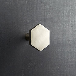 hex brushed nickel knob