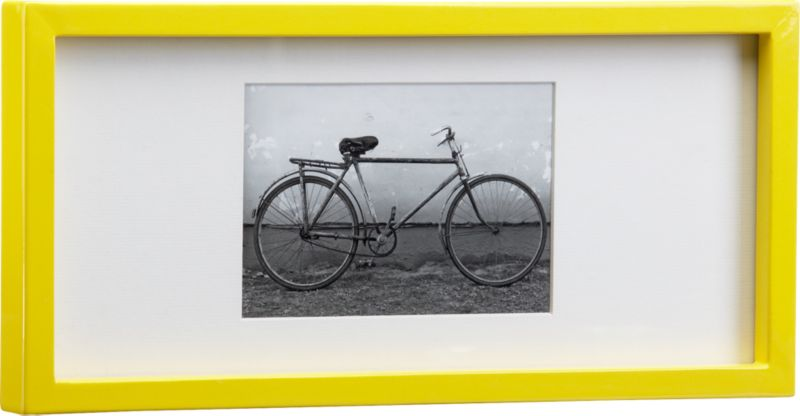 rectangular yellow hi-gloss 4x6 picture frame