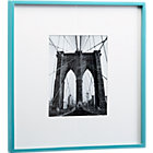 square aqua hi-gloss 8x10 picture frame.