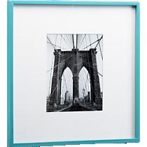 square aqua hi-gloss 8x10 picture frame