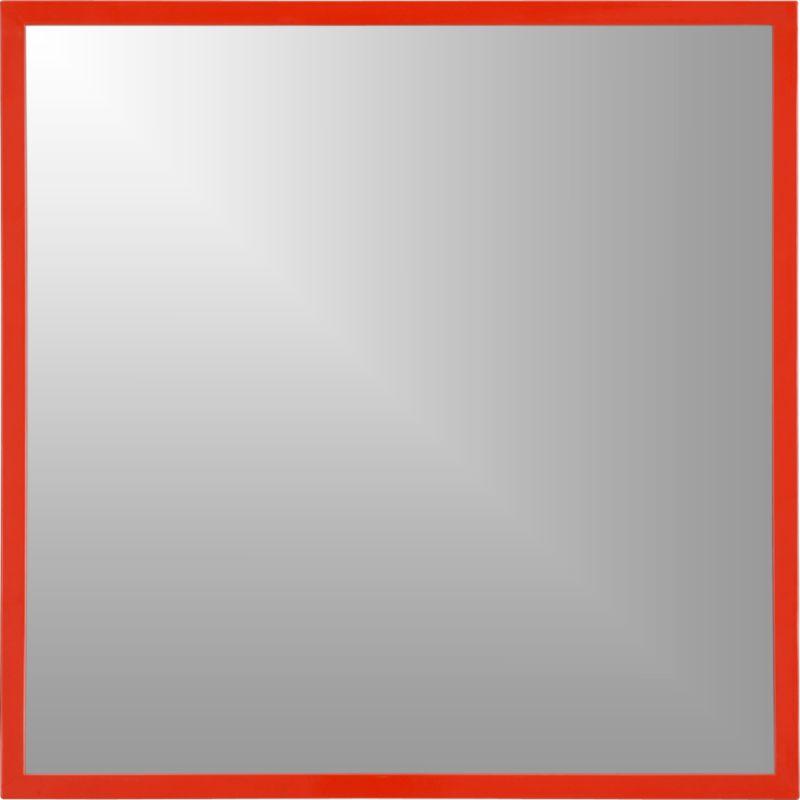 "hi-gloss 33"" square mirror"