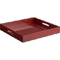 hi-gloss square brick tray
