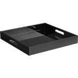 hi-gloss square black tray