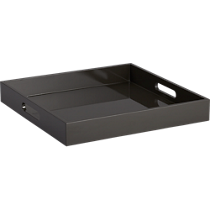 high-gloss square carbon tray
