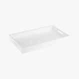 hi-gloss rectangular white tray