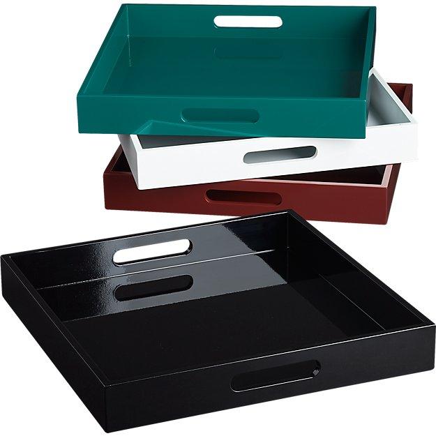 hi-gloss square trays