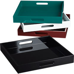 hi-gloss square trays
