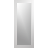 "hanging-leaning high-gloss white 32""x76"" floor mirror"