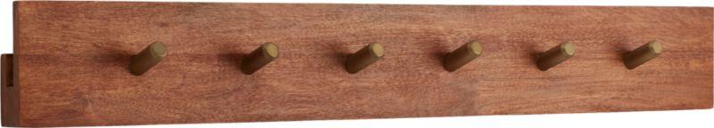 hidden channel wall-mounted coat rack - CB2