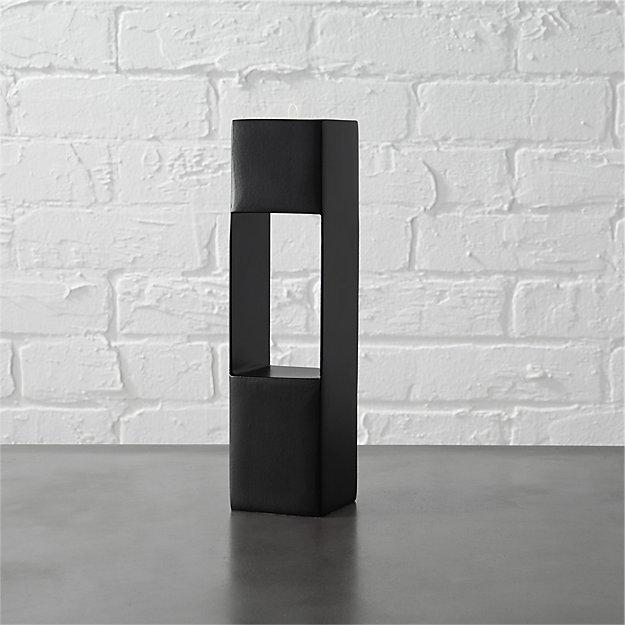 highrise black tea light candle holder