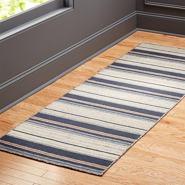 The Hill-Side workwear blanket stripe runner 2.5'x8'