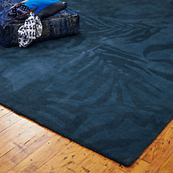 The Hill-Side tropical leaves rug