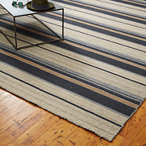 The Hill-Side workwear blanket stripe rug