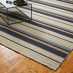 The Hill-Side workwear blanket stripe rug