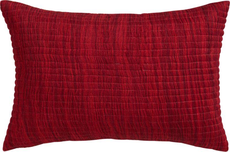 "hombre burgundy 18""x12"" pillow with down-alternative insert"
