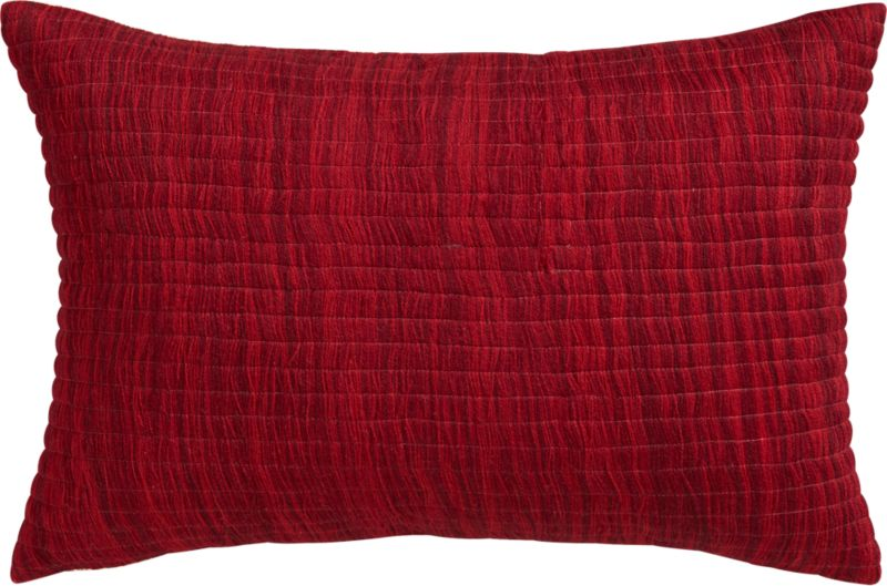 "hombre burgundy 18""x12"" pillow with down-alternative insert"