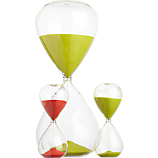 hour glass and 15-minute hour glasses
