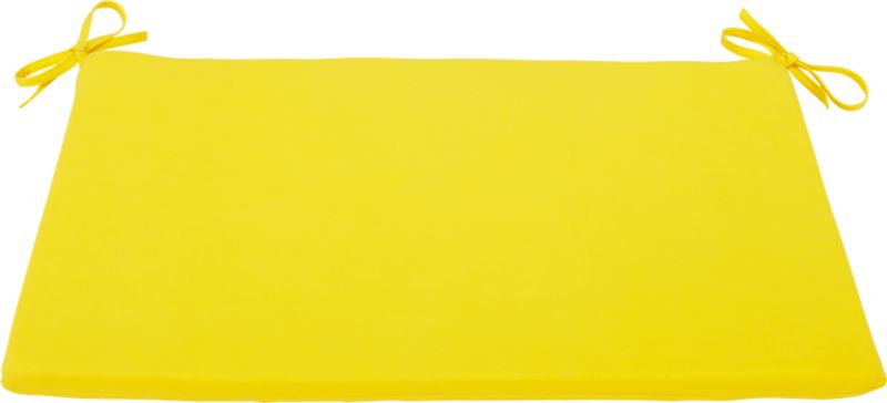 humpback yellow lounge chair cushion