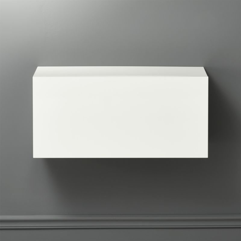 Hyde White 30 Wall Mounted Cabinet CB2