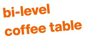 bi-level coffee table