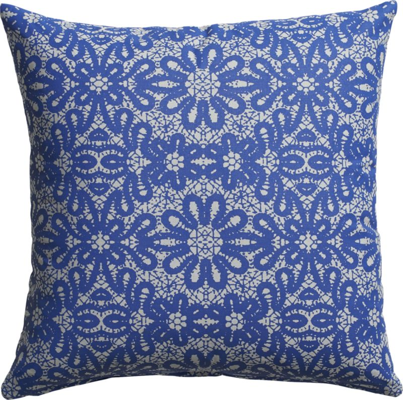 """iberica 18"""" pillow with feather-down insert"""