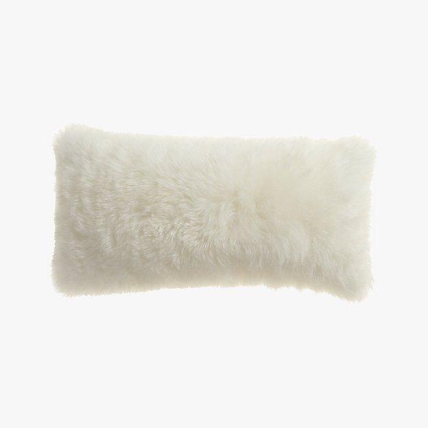 """icelandic shorn sheepskin 23""""x11"""" pillow"""