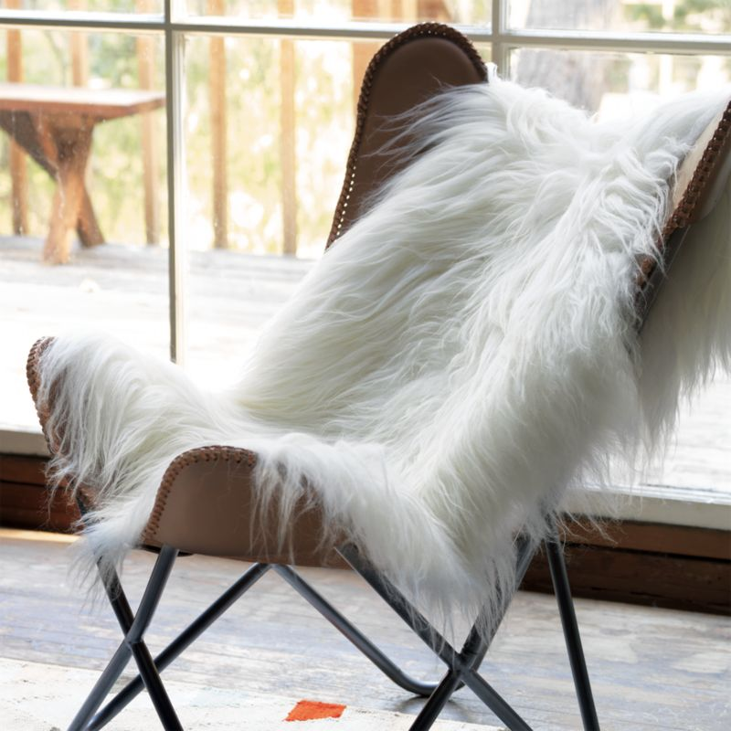 Icelandic Sheepskin Throw Cb2