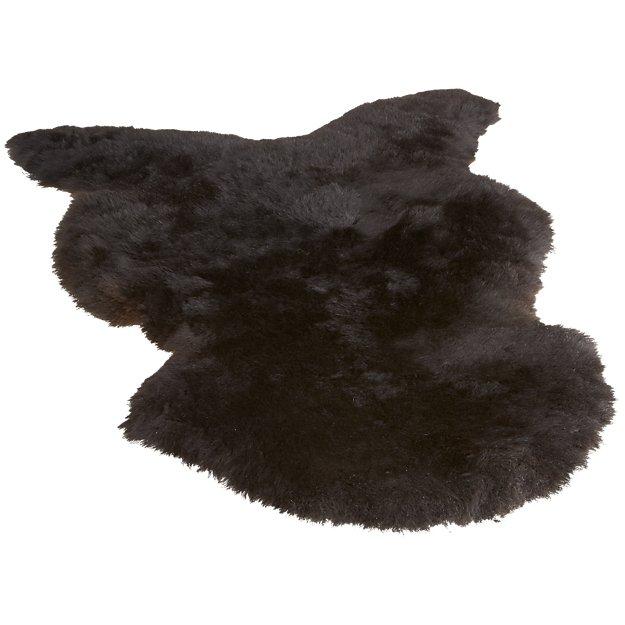 icelandic black sheepskin throw