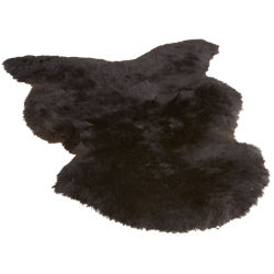 icelandic black shorn sheepskin throw