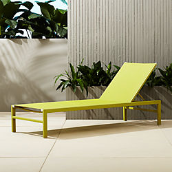 idle green outdoor chaise lounge