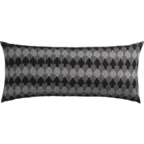 "ikat black and grey 36""x16"" pillow"