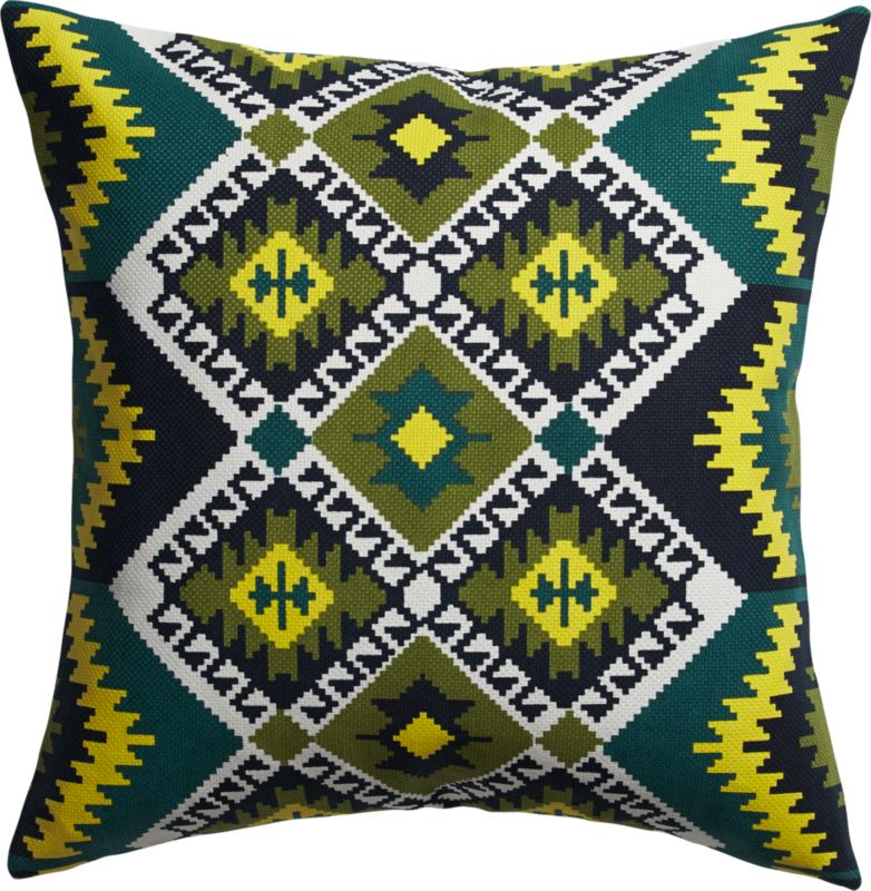 "imprint 18"" pillow with feather-down insert"